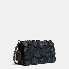 "Tea Rose Applique Dinky Crossbody in Leather USD$595 LxHxH 9x5.5x2.25"""