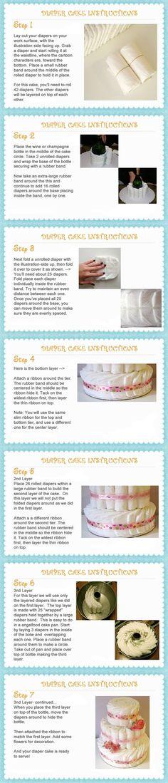 How to Make a Diaper Cake