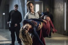 """Mon-El holding Kara/Supergirl after the Music Meister strikes in the 2x16 Star-Crossed promotional pictures. I'm excited. I love seeing the jokey/realistic half of my couple worry over the serious/noble half. These two are always interesting, whether """"together"""" together or not <3  TV Shows  CW  #Supergirl  Season 2  Kara x Mon-El  #Karamel  Kara Danvers  Melissa Benoist  Chris Wood  #DCTV  Favorite couples  Flash/Supergirl crossover """