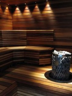 The sauna is so comfortable, soothing and therapeutic it will never overheat the body. Saunas, Sauna Lights, Sauna Hammam, Sauna Seca, Theoule Sur Mer, Saint Jean Cap Ferrat, Cagnes Sur Mer, Sauna Steam Room, Spa Lighting