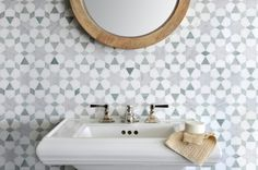 New Ravenna | Backsplash | Mosaic Tile | Medina | Quilt | Ming Green | Thassos White