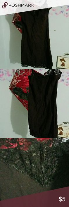 Brown camisole Lace on top and bottom, great condition, hardly worn, adjustable straps No Boundaries Tops Camisoles