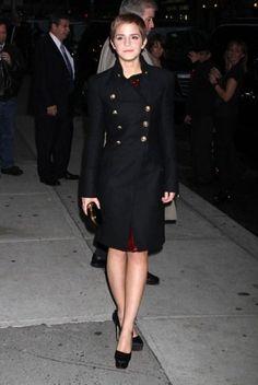 Emma Watson in a fantastic coat!