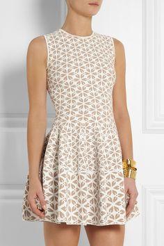 Alexander McQueen|Jacquard-knit mini dress|NET-A-PORTER.COM