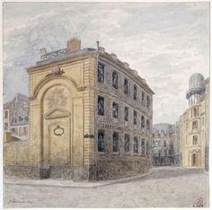 Ancienne chapelle du Collège des Grandmontains, transformée en imprimerie, au coin des rues Mignon et Serpente - Paris 6e 1893 Jules Gaildrau