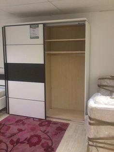 2 Door slider wardrobe (open)