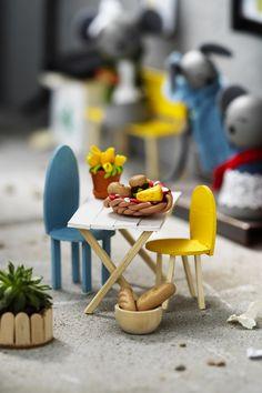 Mouse city www.pandurohobby.com Miniature worlds by Panduro #panduro #diy #pyssel #miniature #miniatyr #miniland #mini #mouse #city #fairy #pixie #korvkiosk #miniatures #malmö #mice