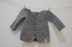 crochet baby cardigan Virkad kofta till baby