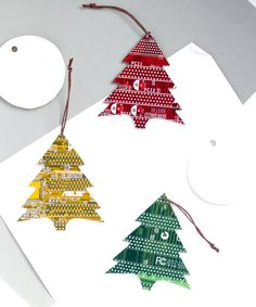 Christmas Tree ornament, made of real circuit board from old computer, will become an extraodinary decoration for your Christmas Tree! It is a real treasure, if you want to make an outstanding Christm