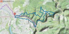 [Tarn-et-Garonne] Montricoux, relais et Bruniquel-Bas Partir de Montricoux, traverser le village (c'est joli), prendre la route de Saint-Antonin et tourner route de la Bauze (ce départ permet de s'échauffer tranquillement).  A 1,5 km on attaque le premier sentier qui conduit au lavoir. Là, tourner à gauche pour une montée de 1 km environ puis plat et descente jusqu'au km 5,6 où l'on est en haut du Cabeou (ne pas s'enflammer et tenir la gauche:) )  Ça remonte tranquille sur un super chemin…