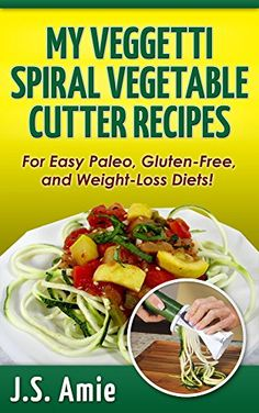 MY VEGGETTI SPIRAL VEGETABLE CUTTER RECIPE BOOK: For easy Paleo, Gluten-Free and Weight Loss Diets! - http://www.majestydiet.com/my-veggetti-spiral-vegetable-cutter-recipe-book-for-easy-paleo-gluten-free-and-weight-loss-diets/