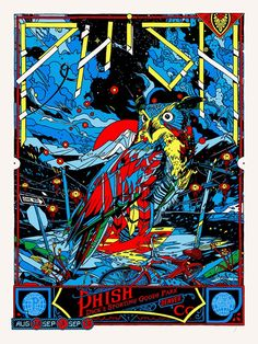 Tyler Stout Phish Commerce City Blue Poster print - Available for Sale Here: http://printdrop.com/index.php?target=product&product_id=16736