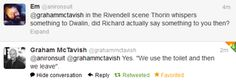 Reason #3821 why I love Richard Armitage. Hahahah!