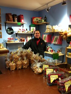 Owner of Marche Tania, and my friend, Joe Romito, proudly showcasing his homemade cookies for sale. Of course, my favorite are the Nutella variety.