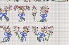 Grande raccolta di Schemi e grafici per Punto croce free: Alfabeti floreali a punto croce