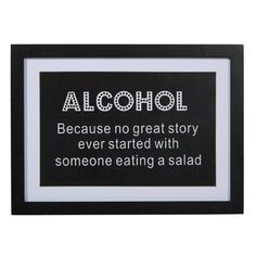 Alcohol & Salad Wall Decor | Black, White | 33x45cm by Warehouse Clearance on THEHOME.COM.AU