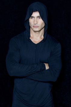 Men's Hooded V Neck