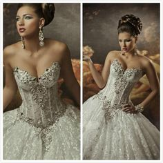 Wholesale A-Line Wedding Dresses - Buy 2014 Royal Dramatic Sexy Sweetheart Ball Lace Bling Crystals Beaded See Through Corset Wedding Dresses Beach Bridal Gowns, $157.07 | DHgate
