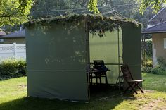 Sukkah from outside by justmakeit, via Flickr
