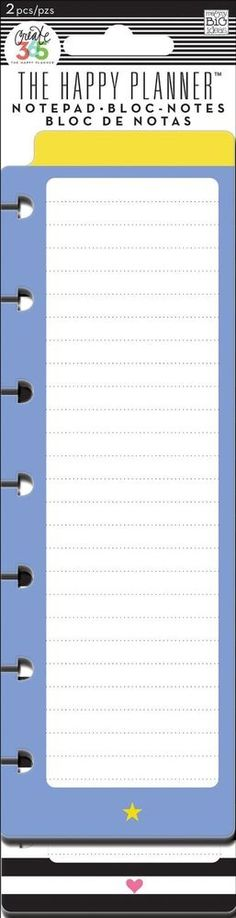 me&my BiG ideas The Happy Planner STAR AND HEART NOTEPAD - 2 pads #memyBiGideas