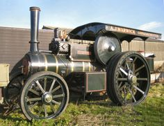 A steam traction engine.
