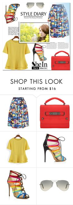 """""""SHEIN"""" by mini-kitty ❤ liked on Polyvore featuring Anja, Salvatore Ferragamo, Ray-Ban and shein"""