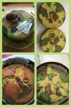 Army cake complete with camouflage cake & camouflage fondant!! Totally Soldier!! I love it More