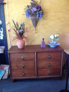 Mid-century dresser with original hardware.