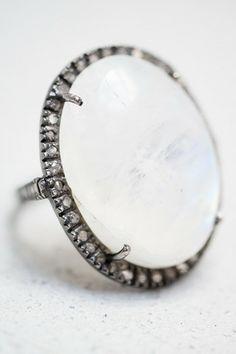 Moonstone Cocktail Ring by Jemma Sands - shopheist.com