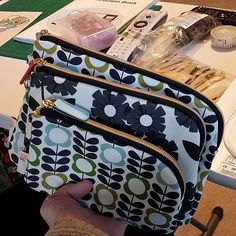 My first sewing goal of 2014--to try to replicate these Orla Kiely pouches I bought at Target, with their interesting half curved zippers. Time to get started. by JenniferLGB, via Flickr