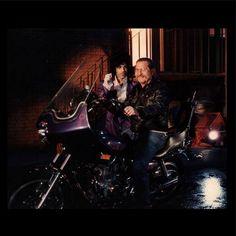 Rare photo featuring Purple Rain Director: Albert Magnoli, w/P on P's Bike