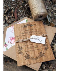 21 Charming Rustic Wedding Invitations - Mon Cheri Bridals