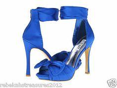 RSVP Women's Winda Sexy Cobalt Satin Heels 8.5M
