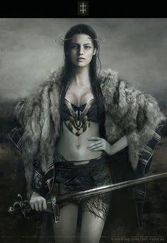 the art of Eve Ventrue #warriorwoman