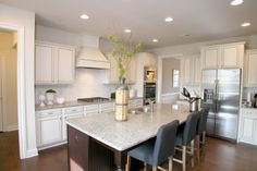 Beautiful kitchen at Sterling on the Lake - Tipton Homebuilders Beautiful Kitchens, Cool Kitchens, Oak Grove, Building A House, Kitchen Island, New Homes, House Design, Home Decor, Amazing