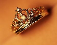 Crown inlay Zircon Ring. Be perfect for a purity ring