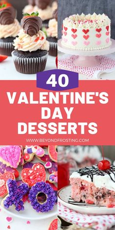 Everything from cakes & cupcakes to cookies and candy. There's something here for everyone! You'll love these amazing Valentine's Day Desserts Red Wine Chocolate Cake, Chocolate Cake Mix Cookies, Chocolate Strawberry Cake, Chocolate Toffee, Sugar Cookies, Strawberry Cake Mix Cookies, Pound Cake With Strawberries, Chocolate Covered Strawberries, Valentine Desserts