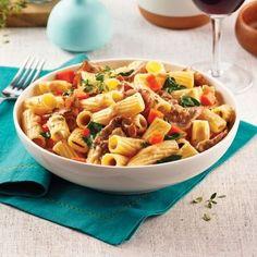 Rigatonis au boeuf à fondue - Recettes - Cuisine et nutrition - Pratico Pratique