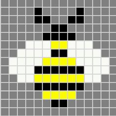 Simple Cross Stitch Bee pattern design                                                                                                                                                                                 More