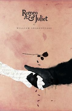 """Chris Hall re-imagines Shakespeare through these Covers on Behance  """"Romeo and Juliet Book Cover"""" (2013)"""