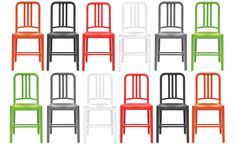 111 navy chair, $230