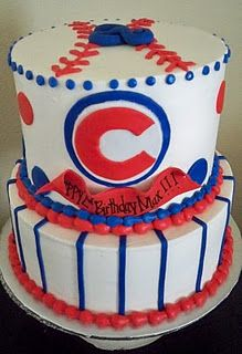 Baseball cake idea for Big Paul