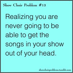 Happens every show. Even the shows i was tech for!