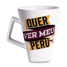 Caneca Quartier Peru 350ml - Vaca Design  Beba seu chocolate quente, chá ou café em uma caneca diferente, fabricada especialmente para quem adora peças únicas, com desenhos criativos e temas engraçados.