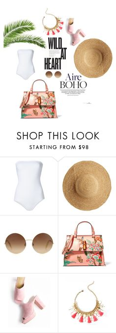 """Beach Days"" by the-beauty-issue ❤ liked on Polyvore featuring ONIA, Flora Bella, Victoria Beckham, Gucci, Lilly Pulitzer, polyvoreeditorial, polyvorestyle, snapmade and summer2016"