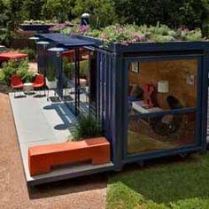 shipping-contenedores-casas-modernas-casa-diseños Building A Container Home, Container Buildings, Container Architecture, Architecture Design, Sustainable Architecture, Green Architecture, Canopy Architecture, Residential Architecture, Contemporary Architecture