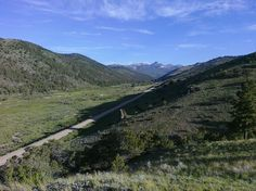 Main road out of the town Bonanza Colorado.