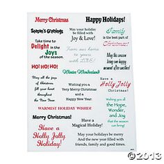 Christmas greeting card verses and sentiments funny pictures christmas card sayings christmas card stickers oriental trading m4hsunfo