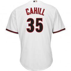 Arizona Diamondbacks Majestic MLB Trevor Cahill 2015 Cool Base Replica Player Jersey Plus Size (White)