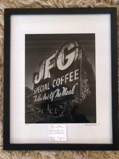 JFG Coffee, original photography by local Knoxville artist, Brian McDonald. Available now at Mid Mod Collective. Email midmodcollective@gmail.com for more info.
